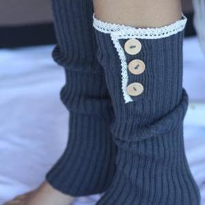 Boot Cuff Legwarmers - Vintage Lace..
