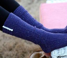 Knitted Purple Blue ..