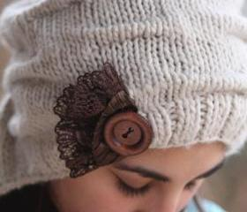 Knitted Hat- Brown L..
