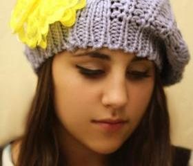 Yellow Bow Beanie Ha..